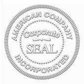 Corporate Desk Seal 2 Diameter Die